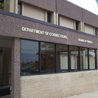 Corrections Department office in Des Moines.