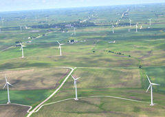 Windmills in western Iowa.