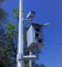 A traffic camera in Des Moines.