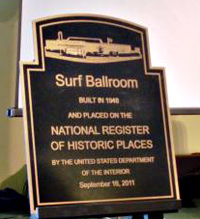 The Surf Balllroom where Buddy Holly played before his death on the National Register of Historic Places.