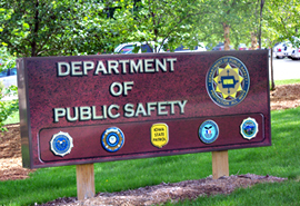 Department of Public Safety sign.