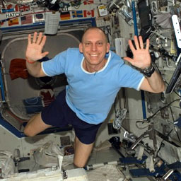 Clay Anderson aboard the International Space Station