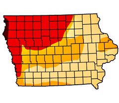 Iowa-drought-map