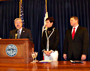 Governor Terry Branstad, Lt. Governor Kim Reynolds, Ed Department director, Jason Glass.