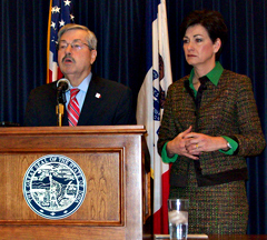 Governor Branstad and Lt. Governor Reynolds talk about a possible run for the U.S. Senate.