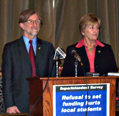 Senator Herman Quirmbach & Representative Sharon Steckman speak at news conference