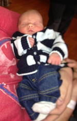Ryder Frink was the first new baby born in 2013.