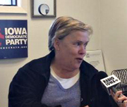 Iowa Democratic Party chair, Sue Dvorsky.