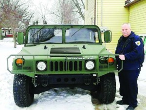 Chief Crump with Humvee