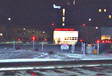 Helipad at Mercy-Medical Center North Iowa sits empty.
