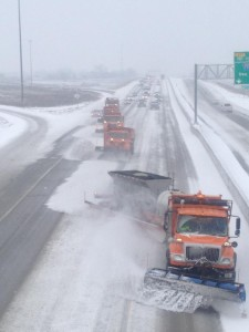 The DOT is urging mortorists to slow down and use caution around snowplows.