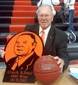 Waukon girls basketball coach Gene Klinge.
