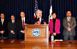 County leaders joined Governor Branstad at his weekly meeting with the media.