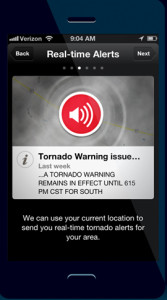 The Red Cross is offering an app for severe weather alerts.