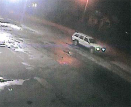 Surveillance photo of vehicle believed to be involved in hit-and-run.