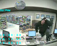 A security camera caught this man robbing a pharmacy in Des Moines.