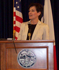 Lt. Governor Kim Reynolds.