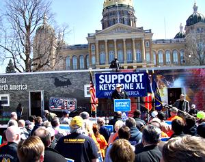Union rally for Keystone XL Pipepline.