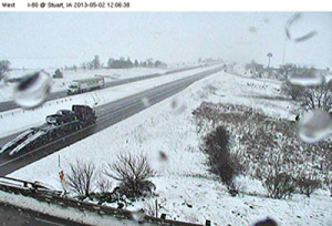 DOT camera view along I-80 near Stuart.