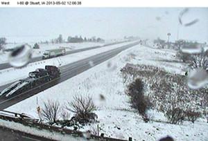 DOT camera view along I-80 near Stuart.