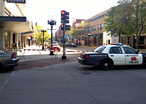The DCI is investigating after a man was shot by Waterloo police at this downtown intersection.
