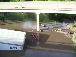 Jasper County Sheriff's Department photo of submerged semi.