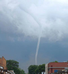 Belmond tornado. (photo courtesy of KGLO, Mason City)