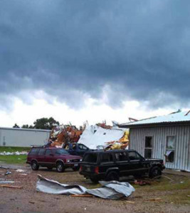 Tornado damage near Belmond in Wright County.