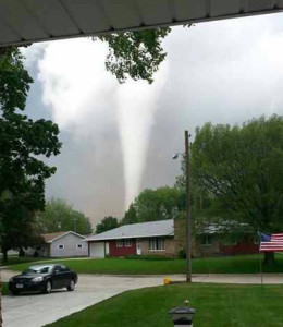 Belmond tornado. (Photo courtesy KGLO Radio Mason City)