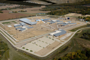 New prison under construction at Fort Madison.  (click on image to enlarge)