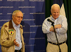 Bud Day (left) campaigning with John McCain in 2008.
