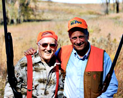 Colonel Bud Day and Congressman Steve King during a hunt.
