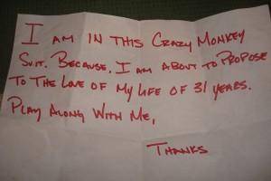 Monkey note