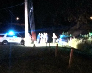 Investigators at the scene of a fatal accident in Cass County.