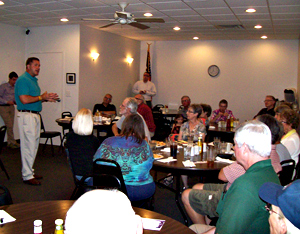 Bruce Braley speaks during a campaign visit to Adel.