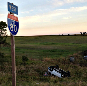 Cass County accident scene.