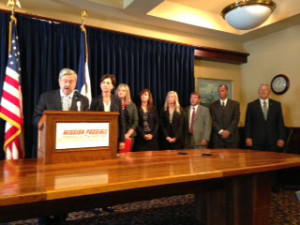 Governor Branstad and the Iowa Grocers.