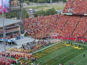 Cyclones and Hawkeyes prepare to take the field.