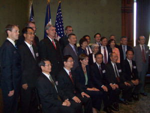 Taiwanese delegation and Lt. Governor Reynolds.