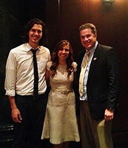 Jonathan and Kayla Craig and Congressman Bruce Braley. (L-R)