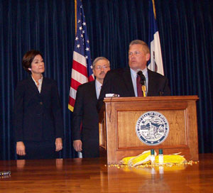 Ag Secretary Bill Northey with Governor Branstad and Lt. Governor Reynolds.