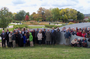 Several people turned out for the dedication of the Iowa Holocaust Memorial.