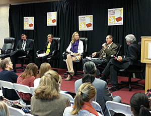Panel discusses hunger survey at the Iowa Hunger Summit.