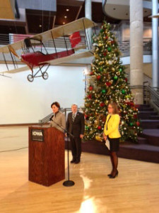Lieutenant Governor Kim Reynolds announces the Celebrate Iowa gala.