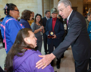 Senator Grassley meets with Meskwaki representatives.