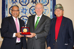 Senator Harkin with Ram Dhanwada and Donal Wanated.