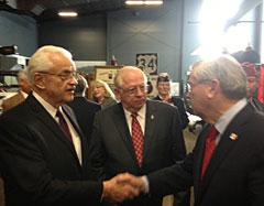 Former Congressman Leonard Boswell, Casey's CEO Bob Myers & Governor Branstad (L-R)