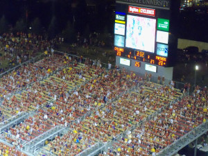 The south end of Jack Trice Stadium shown here in the season opener.