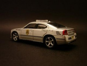Dodge Charger model state patrol car.