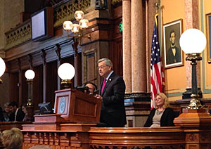 Governor Branstad delivers his Condition of the State message.